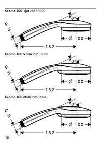 Hansgrohe 28535 Croma 100 Vario Handbrause Duschbrause Chrom