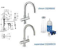 grohe blue pure starter kit 33249001 k chenarmatur chrom. Black Bedroom Furniture Sets. Home Design Ideas