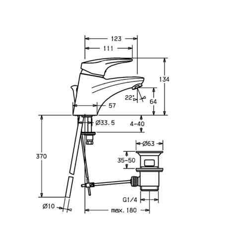 hansamix waschtisch einhand einlochbatterie dn 15. Black Bedroom Furniture Sets. Home Design Ideas