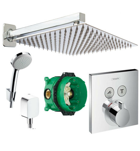 HANSGROHE Select Touch Thermostat, iBox 300mm, Kopfbrause, ShowerSelect A2-Q